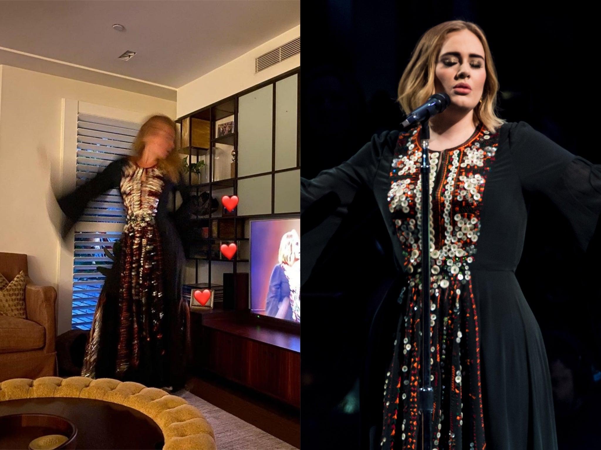 Adele rewears bespoke Glastonbury dress that took 200 hours to make