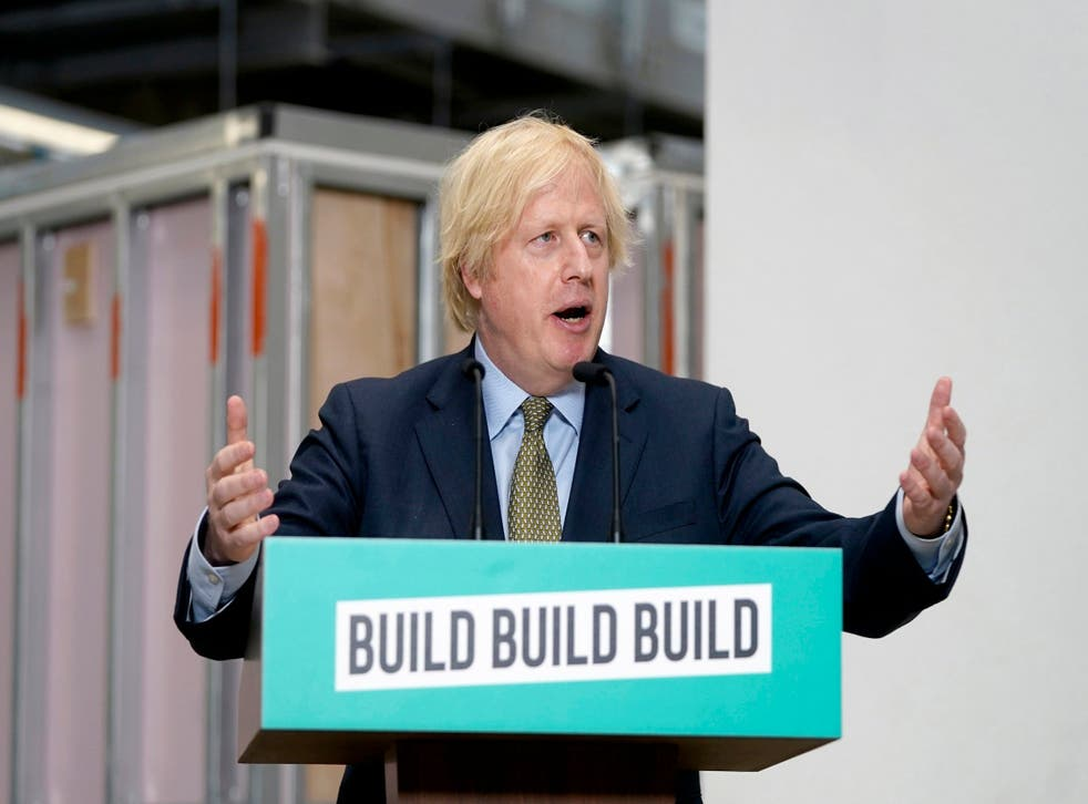 Johnson has suggested the UK will build its way out of recession
