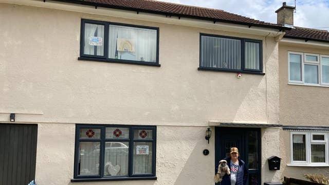 Pamela Peel outside her home on Bowhill Grove