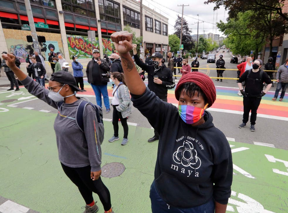 Independent correspondent Andrew Buncombe was arrested while filming police clearing out the protest zone known as Chop in Seattle this week