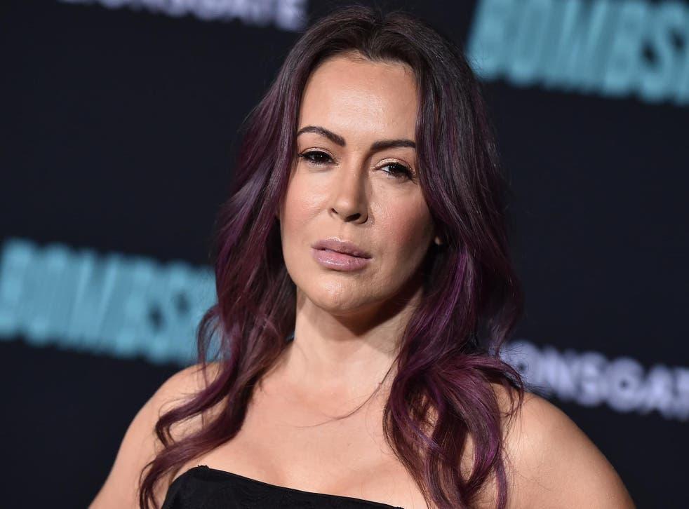 Alyssa Milano at a screening of 'Bombshell' in Westwood, California on 10 December 2019.