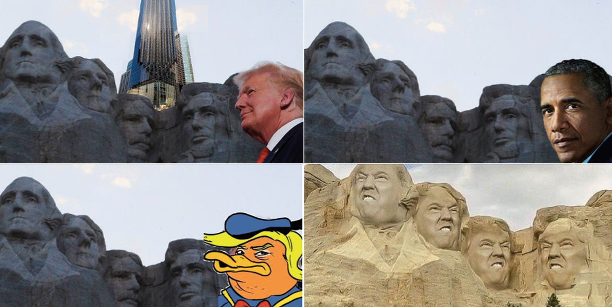 These parody versions of Trump's staged Mount Rushmore photo are even better than the original