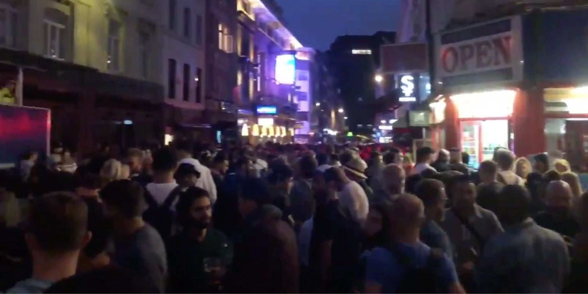 Huge crowds slammed as 'selfish' and 'dangerous' as central London is overrun with pub-goers