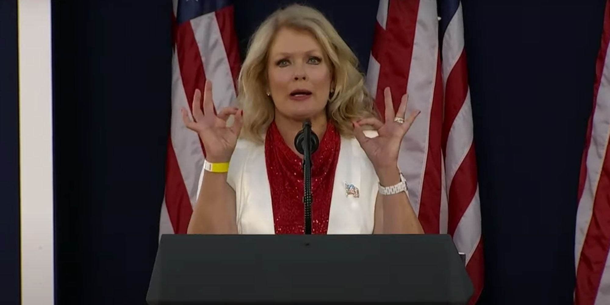 Trump emcee accused of doing 'white power sign' before his Mount Rushmore speech