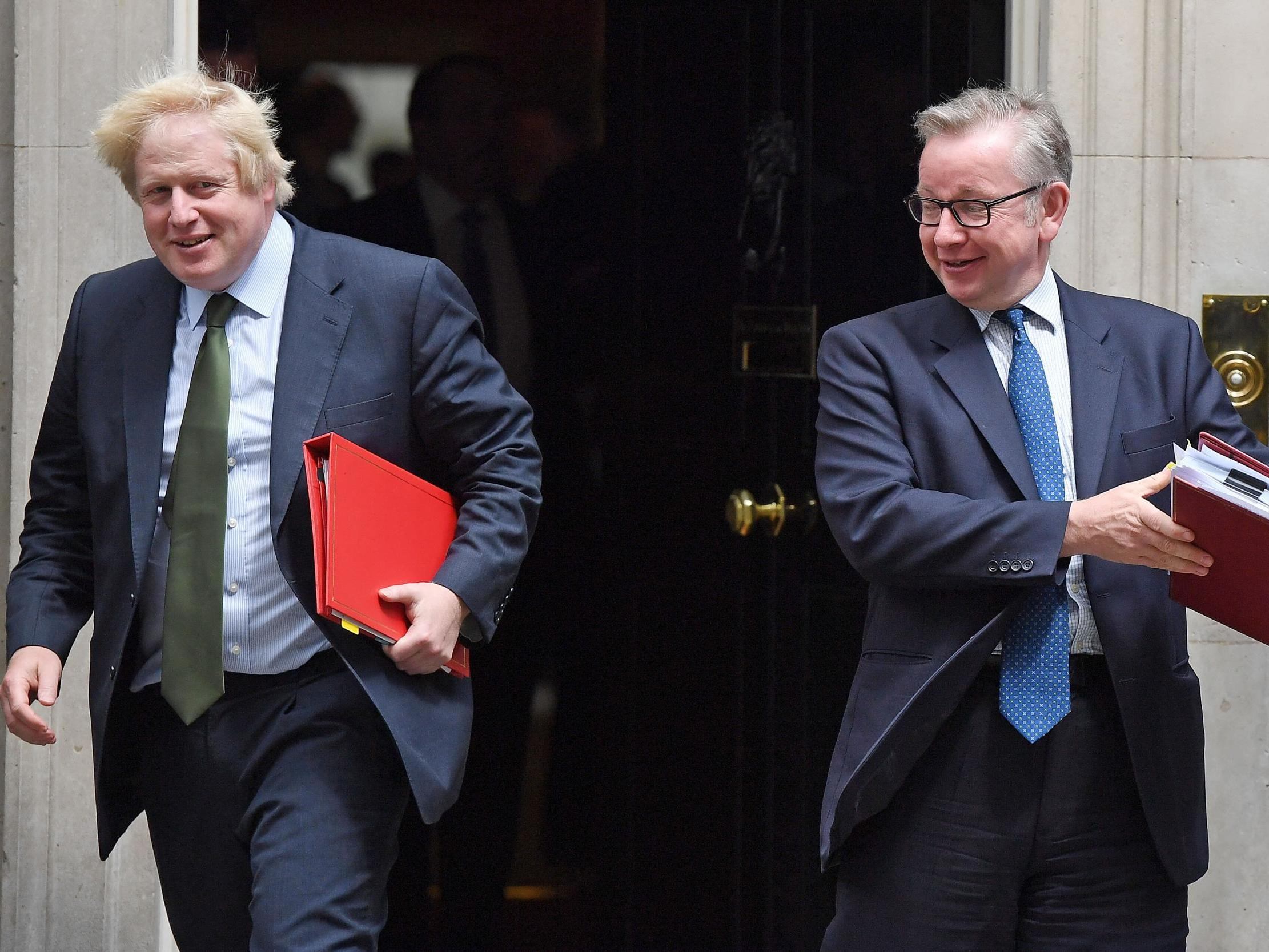 Boris Johnson and Michael Gove 'sold in slave auction' at Oxford Union