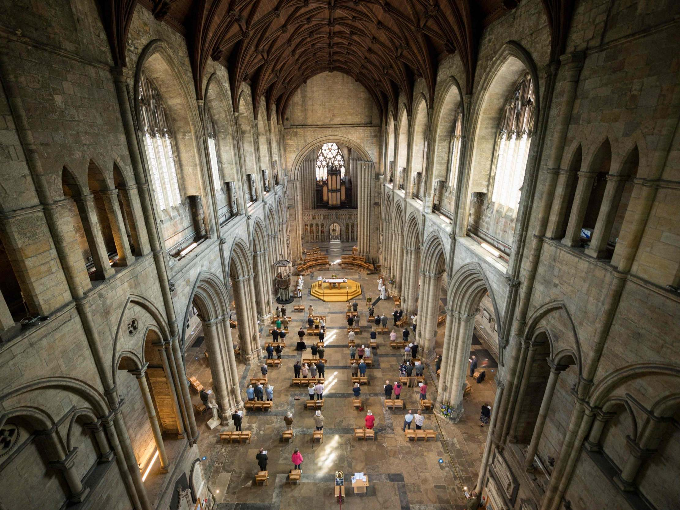 Churches in England reopen for Sunday service