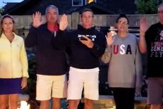 Former Trump aide Flynn appears to make pledge to QAnon in July 4 clip