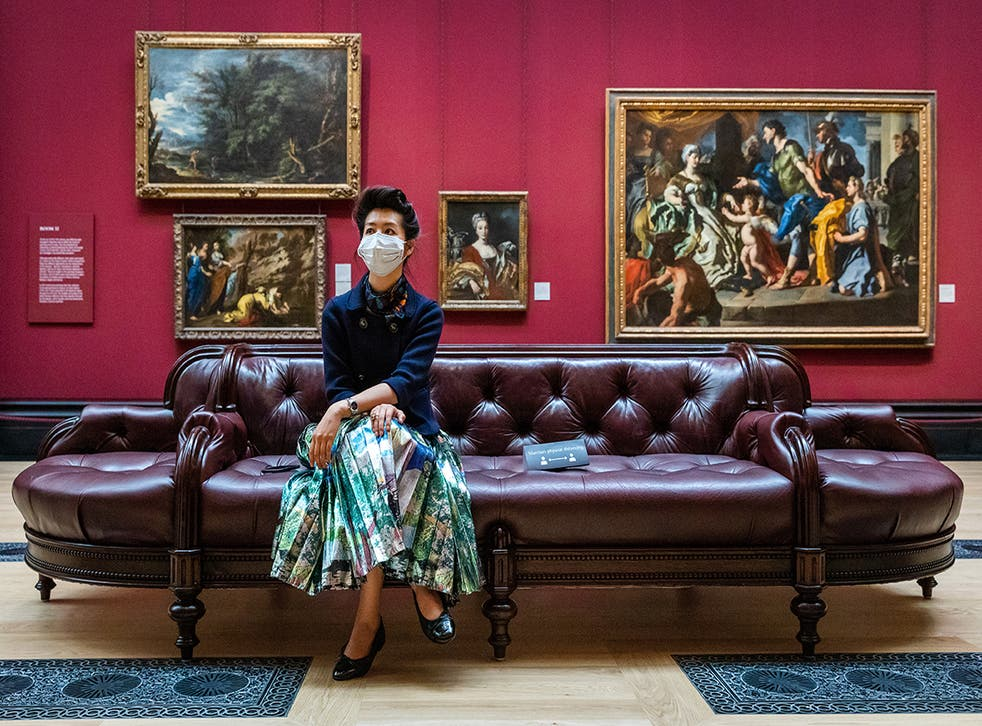 The National Gallery allowed its first visitors on Saturday