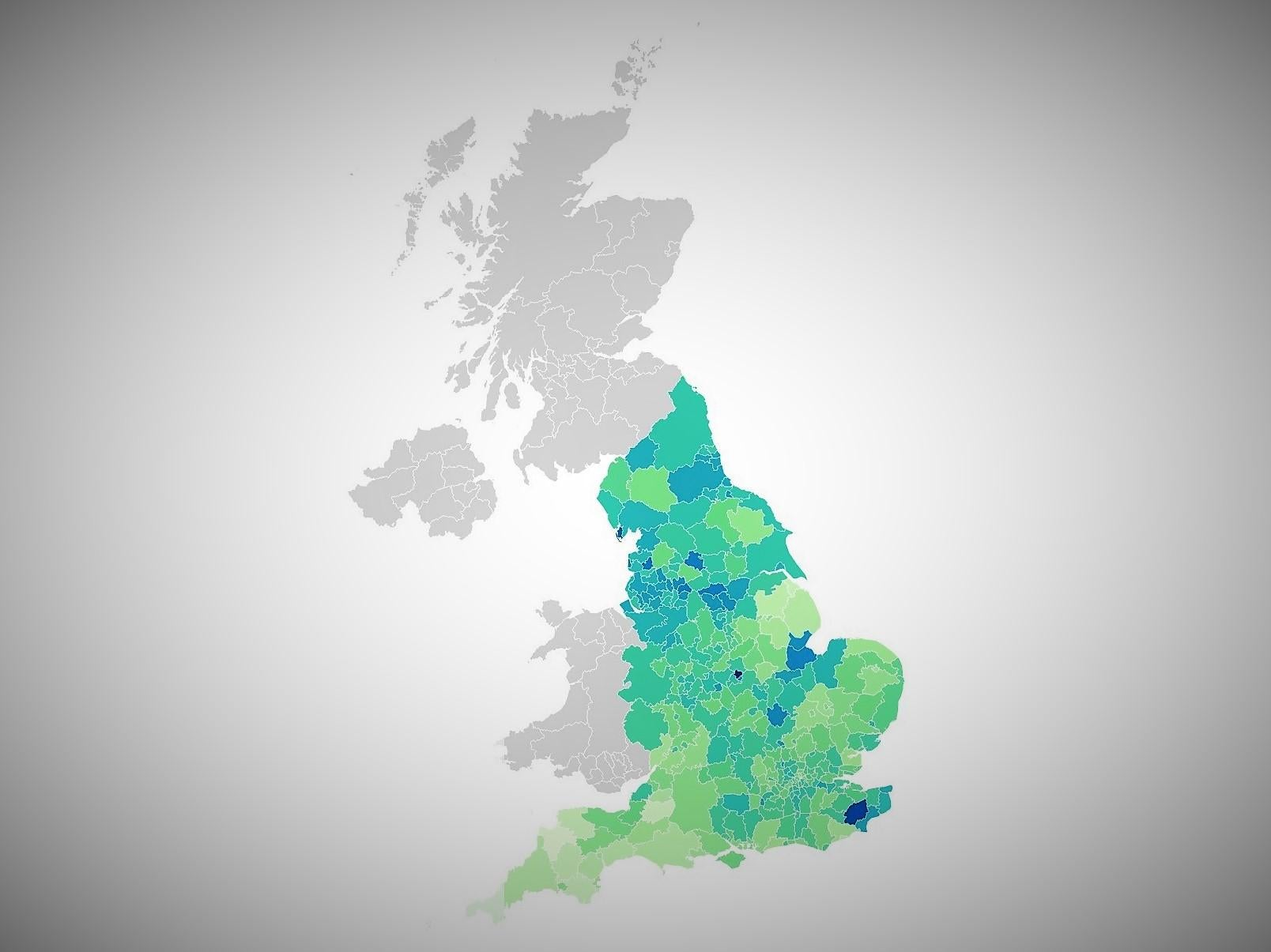 Where are coronavirus case rates spiking in England?