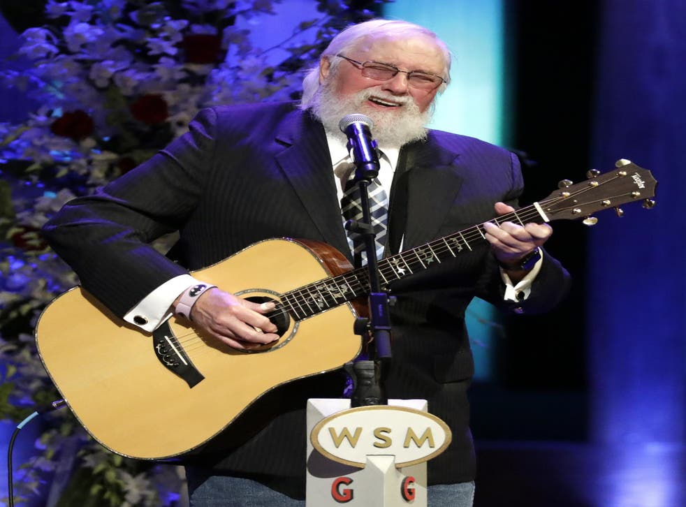 Charlie Daniels performs during a memorial service for country music singer Troy Gentry at the Grand Ole Opry House on 14 September, 2017
