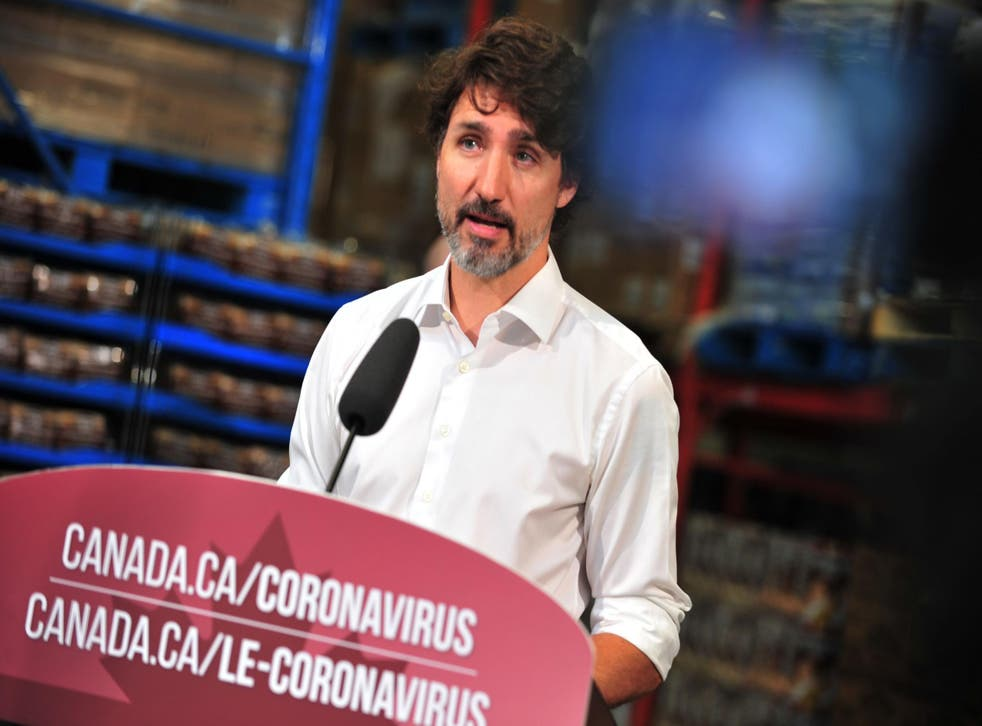 Canadian prime minister Justin Trudeau speaks in Gatineau, Quebec, Canada, on 3 July, 2020.