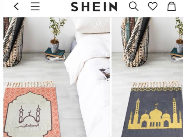 "Shein apologises for advertising Islamic prayer mats as Greek ""frilled carpets"""