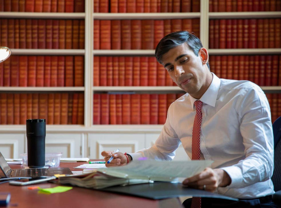 Rishi Sunak preparing his economic update statement
