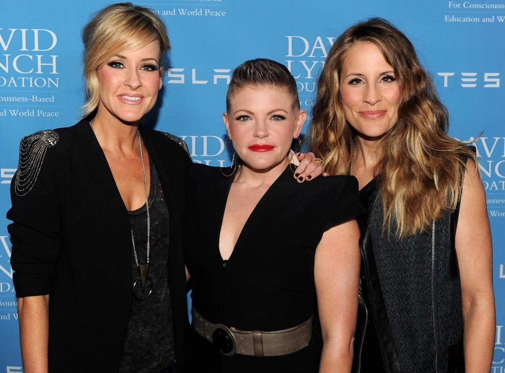 Martie Maguire, Natalie Maines and Emily Robison of The Chicks on 27 February 2014 in Beverly Hills, California.