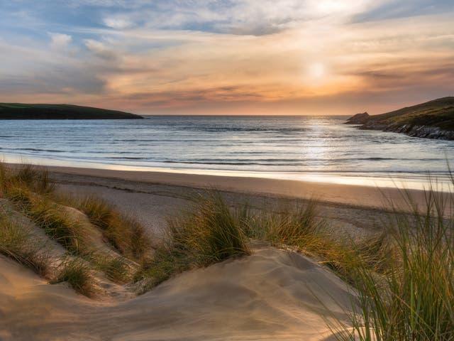 Crantock Beach on the Cornish coast