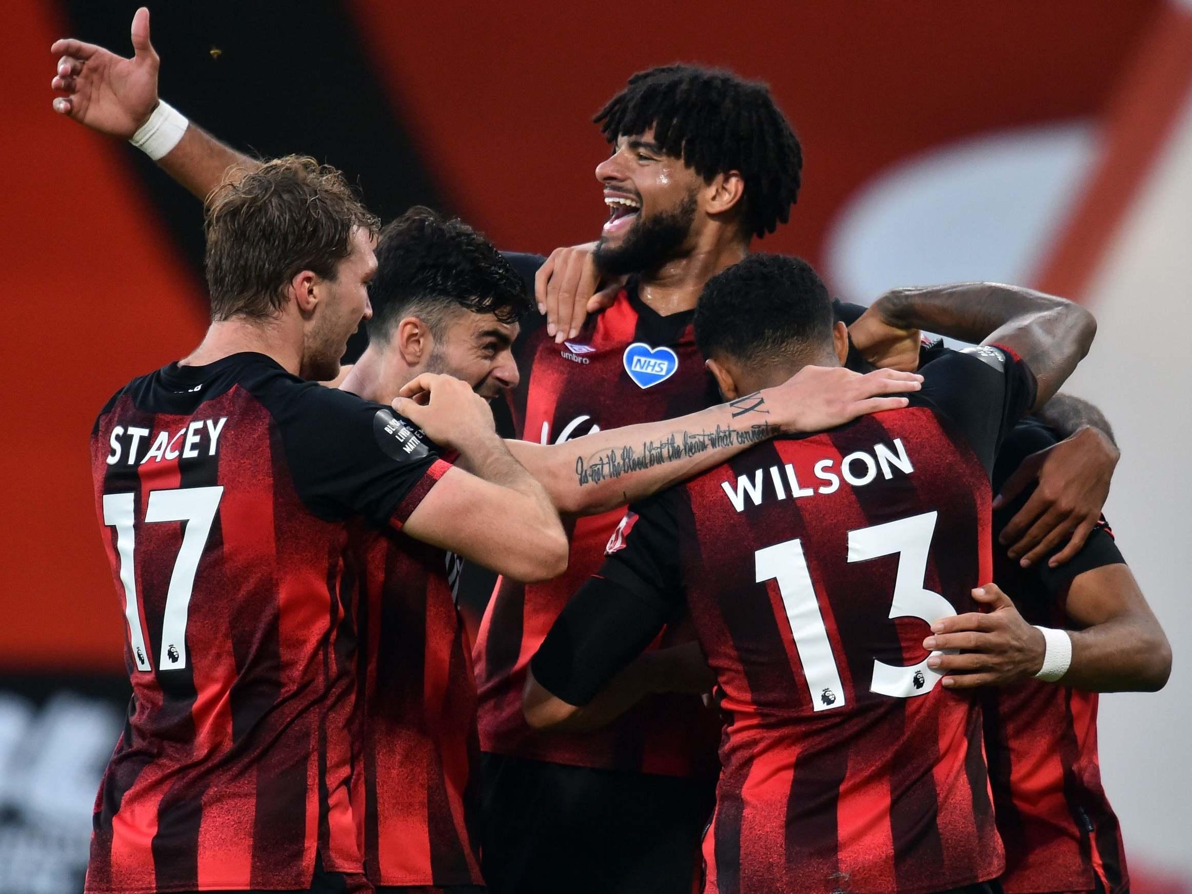 Bournemouth hit four past 10-man Leicester to reignite hopes of Premier League survival thumbnail