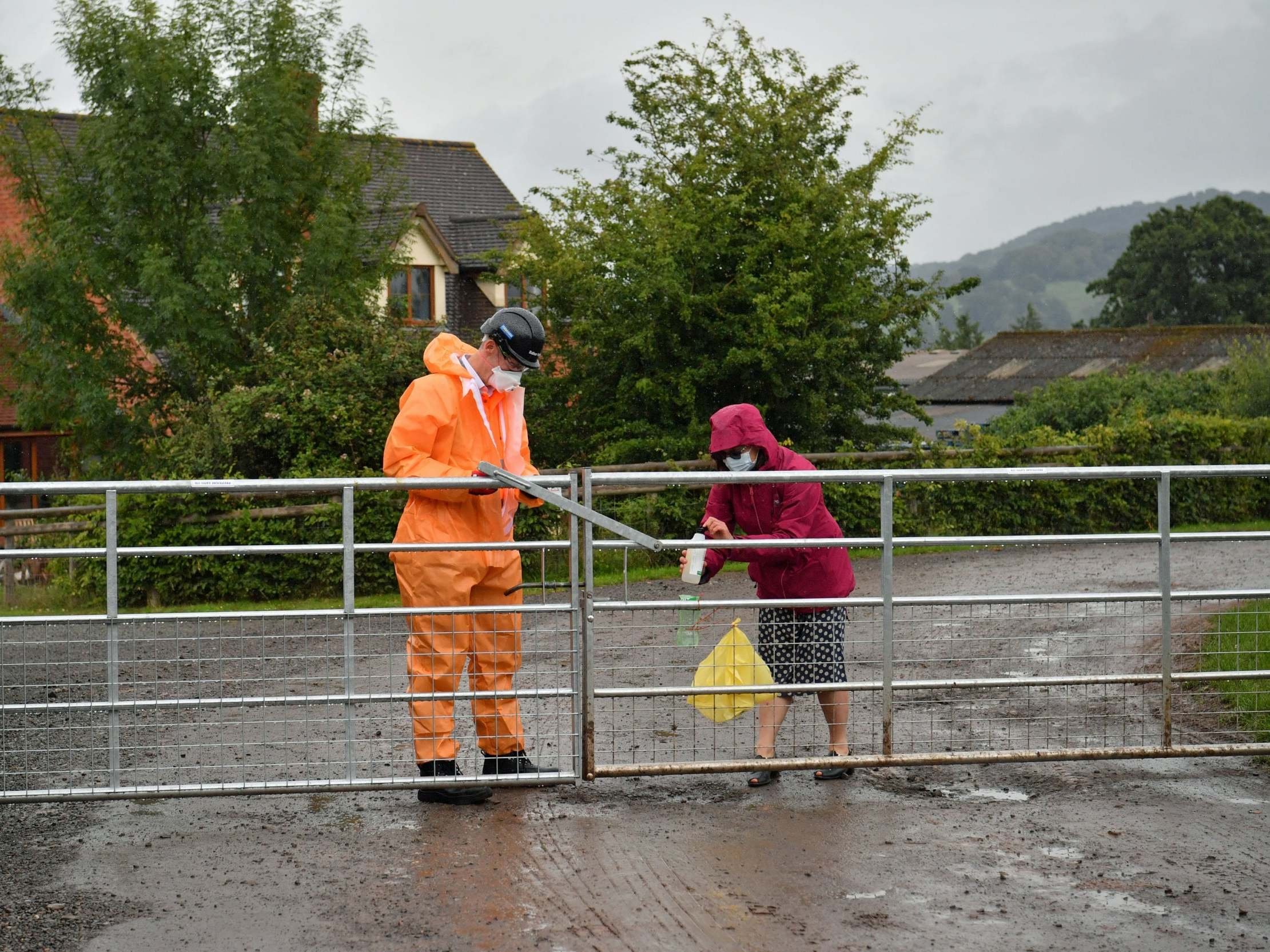 Three workers flee quarantined Herefordshire farm where 74 tested positive for coronavirus