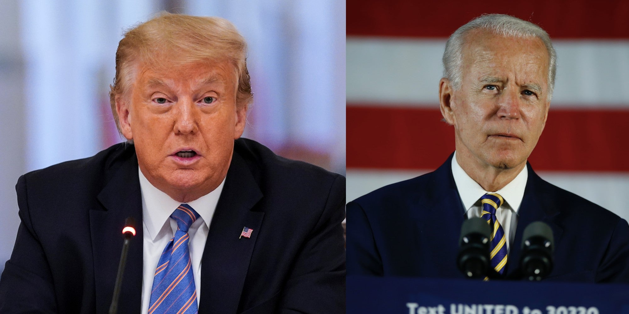 Trump just said people shouldn't vote for Joe Biden because TV ratings will fall