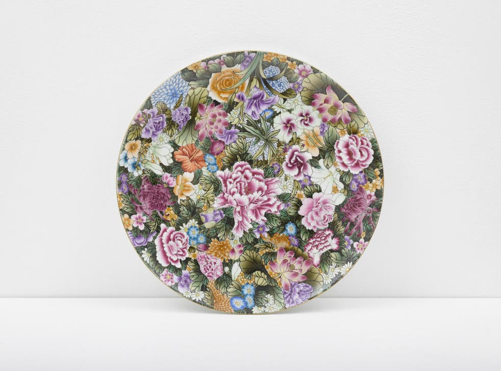 Auction: Ai Weiwei's Small Plate with Flowers, 2014, is among lots including works by Bridget Riley and Yinka Shonibare