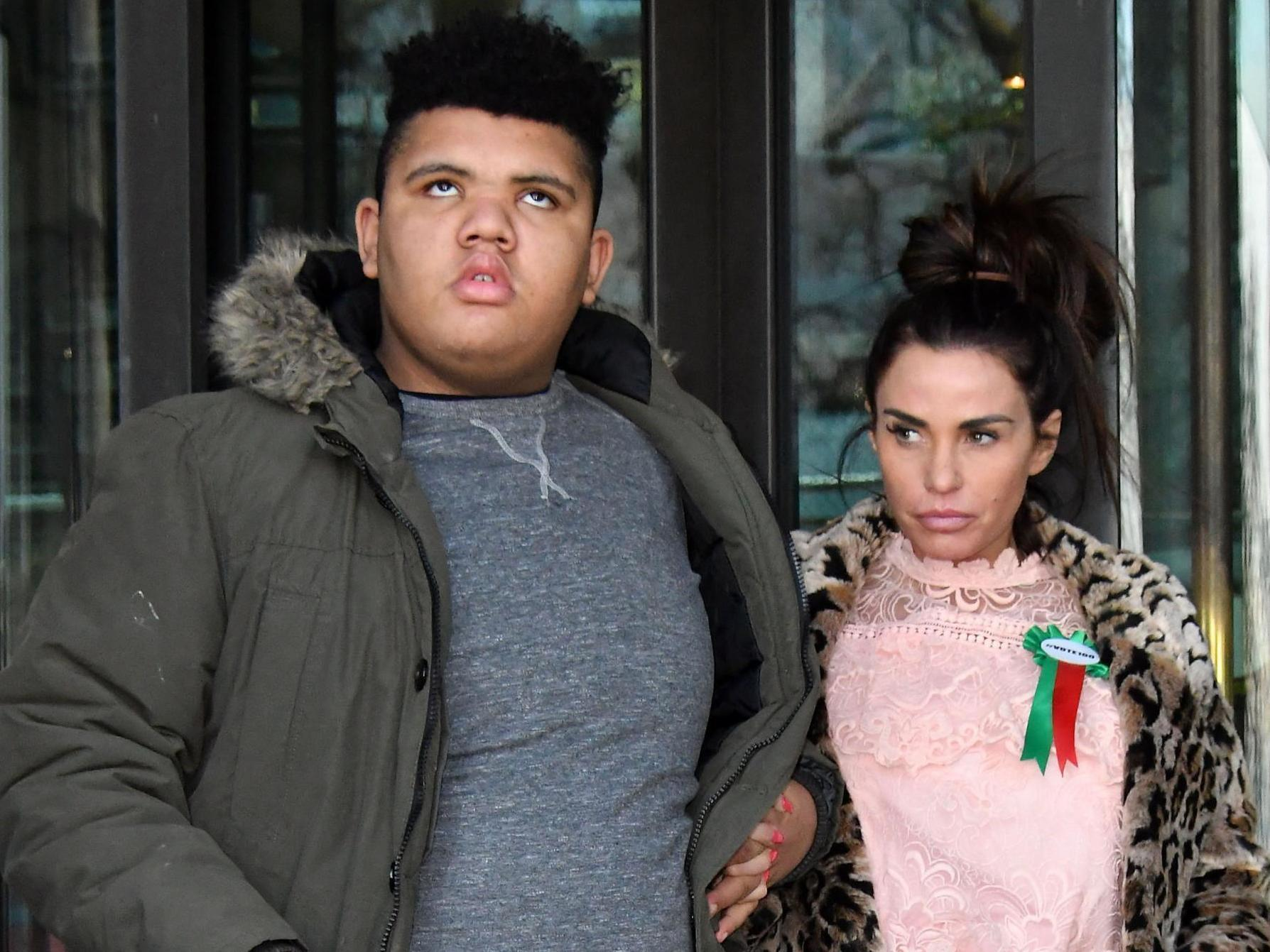 Katie Price says son Harvey battling 'complex' problems in intensive care