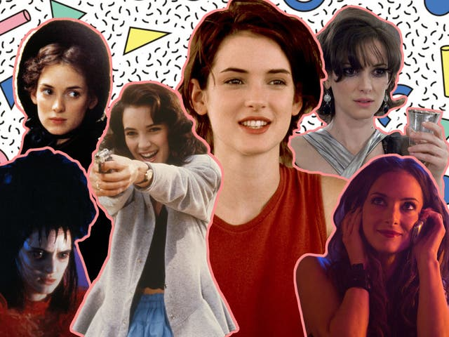 Winona Ryder in 'Beetlejuice', 'Little Women', 'Heathers', 'Reality Bites', 'Black Swan' and 'Homefront'