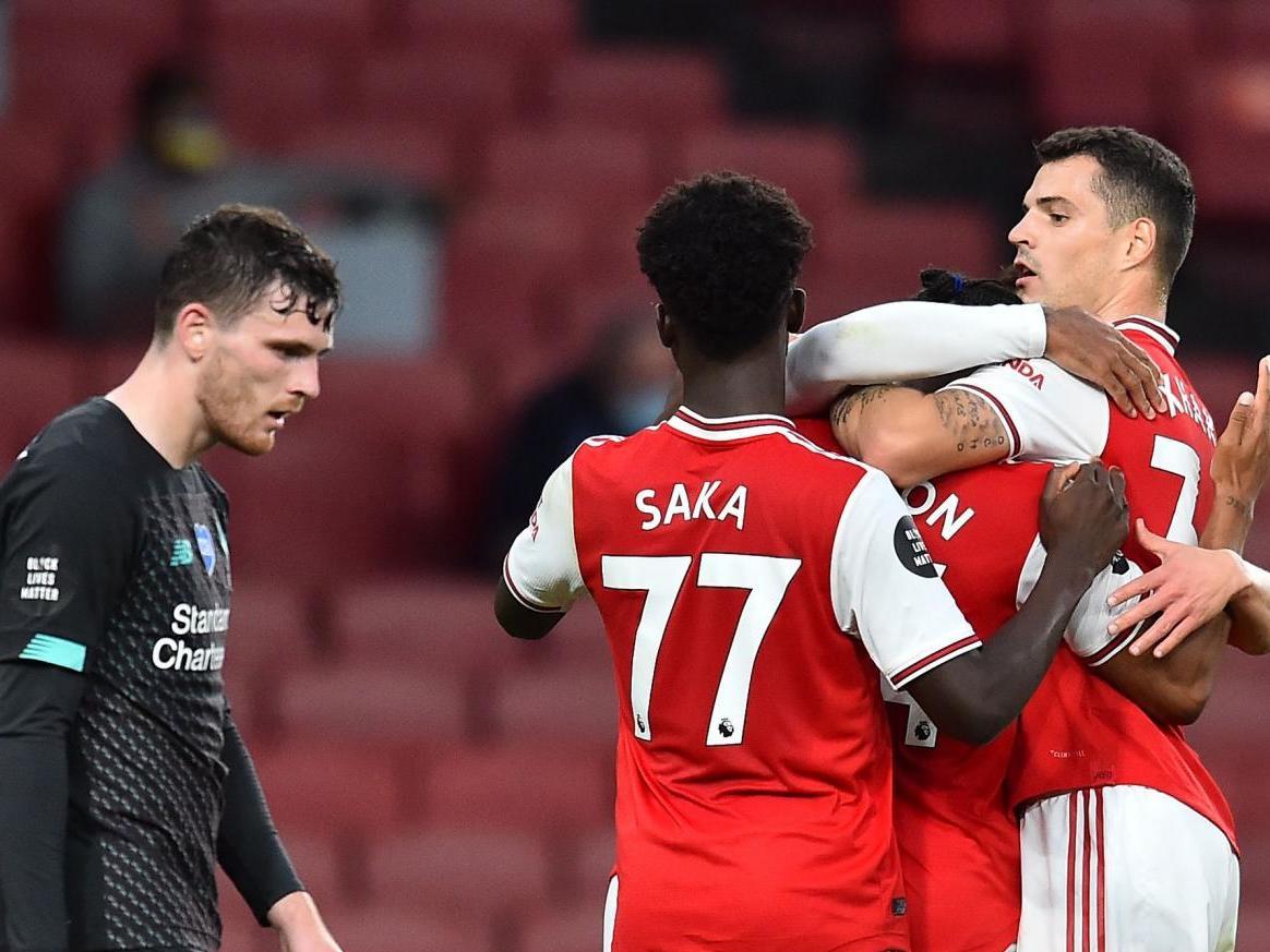 Arsenal vs Liverpool result: Alexandre Lacazette and Reiss Nelson stun sloppy Reds thumbnail