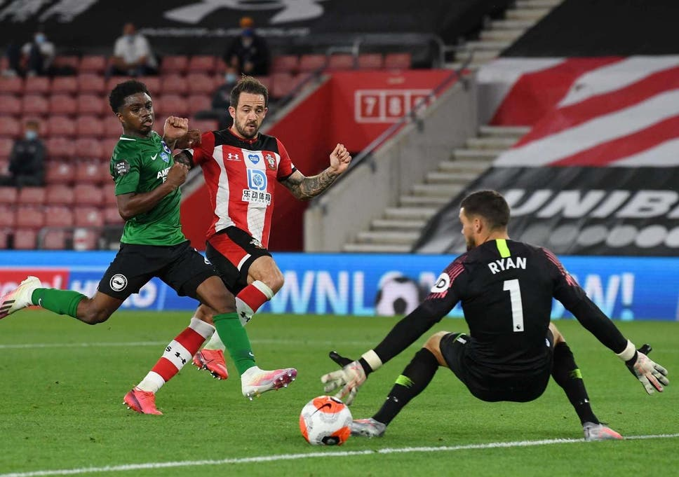 Danny Ings levels for Southampton after Neal Maupay's opener