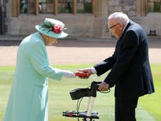 Captain Sir Tom Moore says being knighted was 'very special'