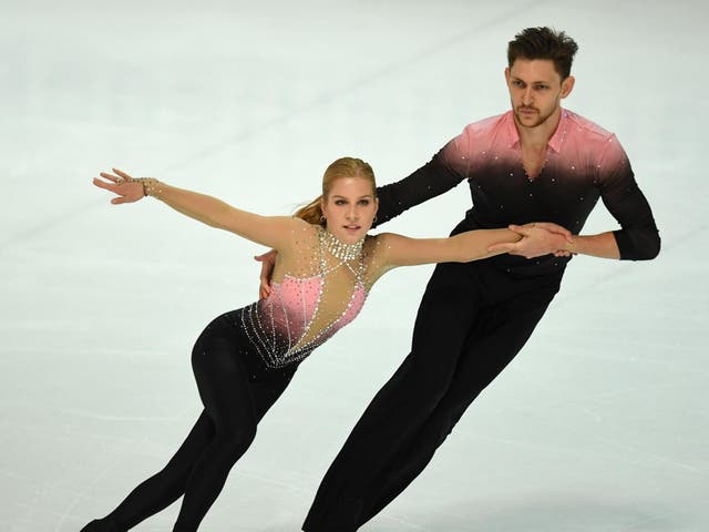 Ekaterina Alexandrovskaya (left) retired from figure skating in February after sustaining several injuries