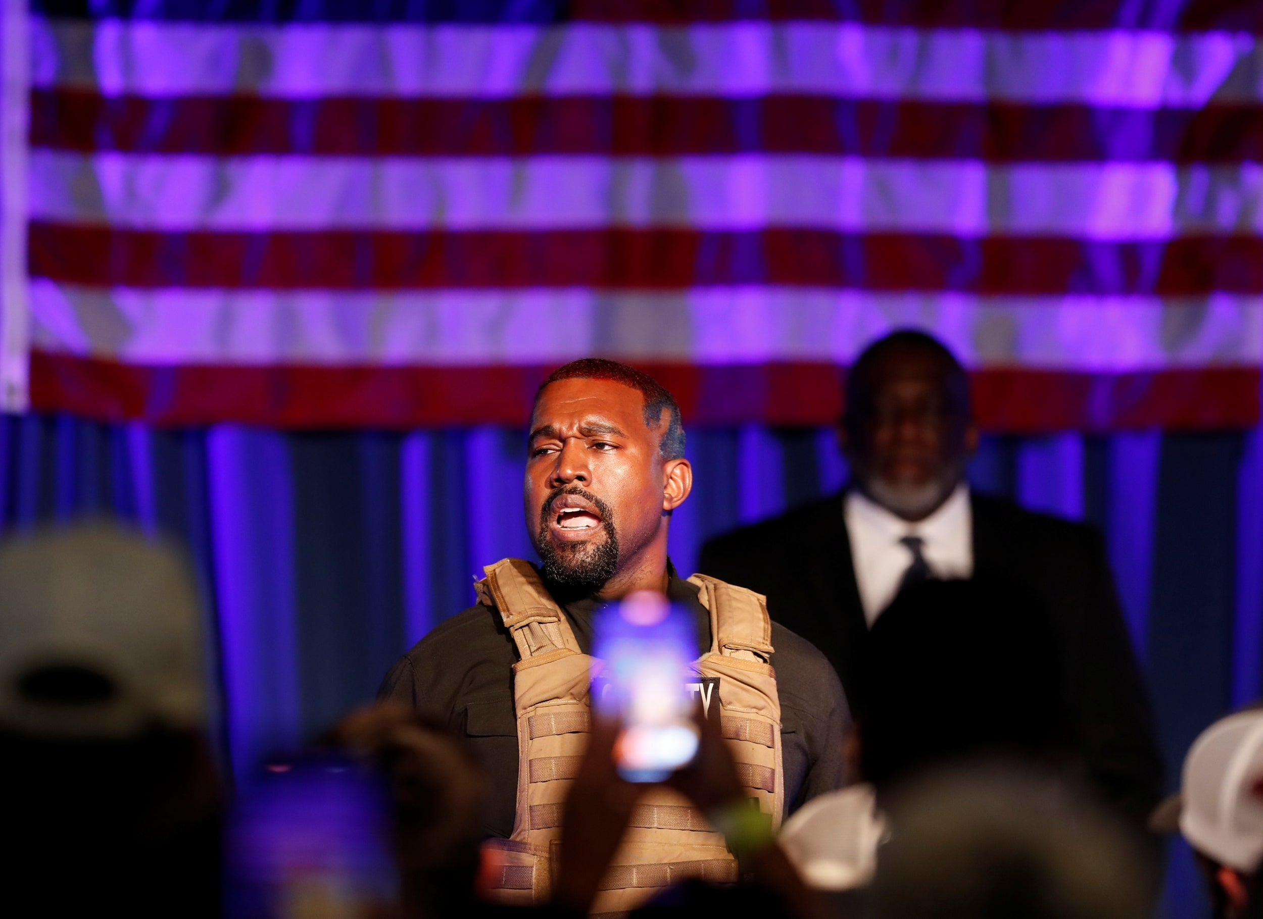 Kanye West 2020 Rally Rapper Launches Presidential Campaign With Tearful Abortion Rant The Independent The Independent