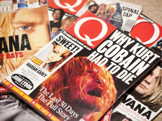 Classic Kurt Cobain covers of the influential UK music magazine Q