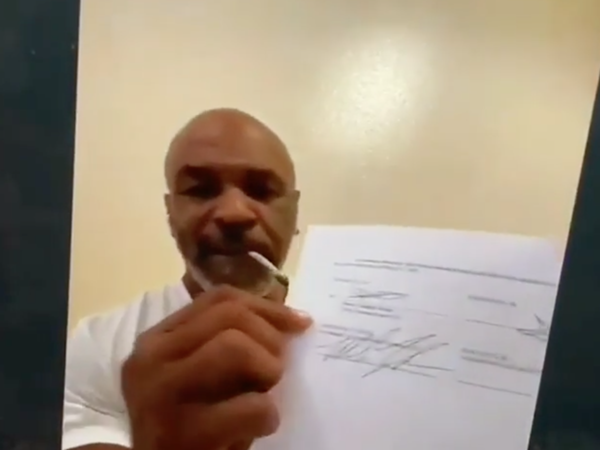 mike tyson confirms boxing comeback in roy jones jr fight the independent the independent mike tyson confirms boxing comeback in