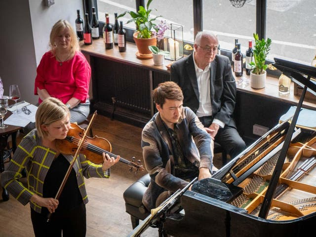 A concert at the Fidelio restaurant on busy Clerkenwell Road