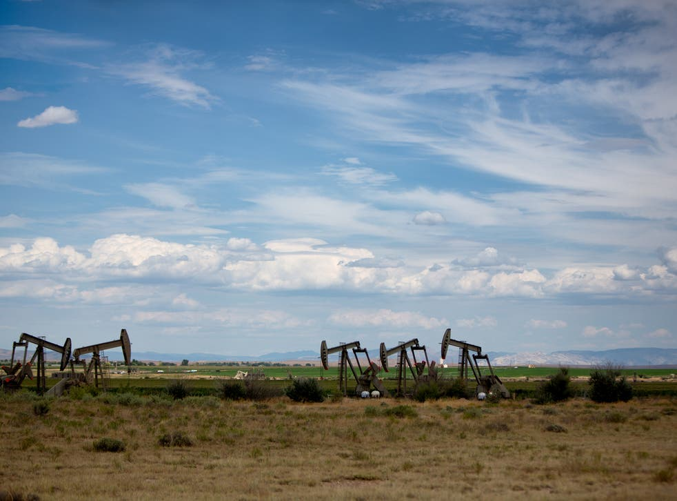 Pumpjacks at fracking sites. Drilling deeper for oil and gas has been linked to the increased likelihood of triggering earthquakes, according to a new study