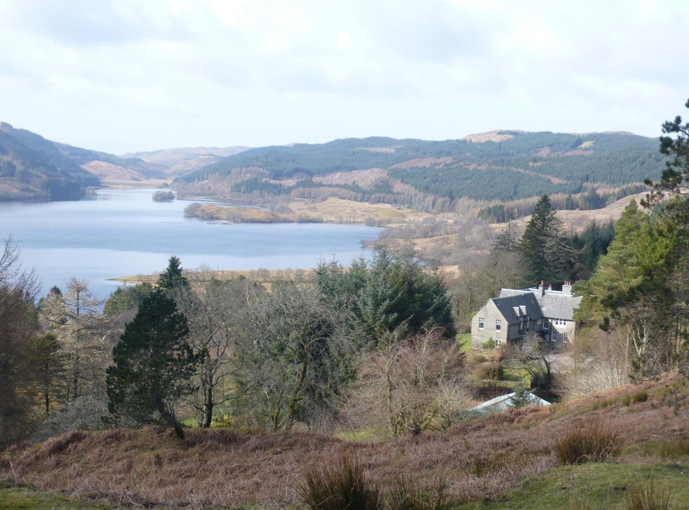 Loch Avich House has breathtaking views of the Scottish Highlands