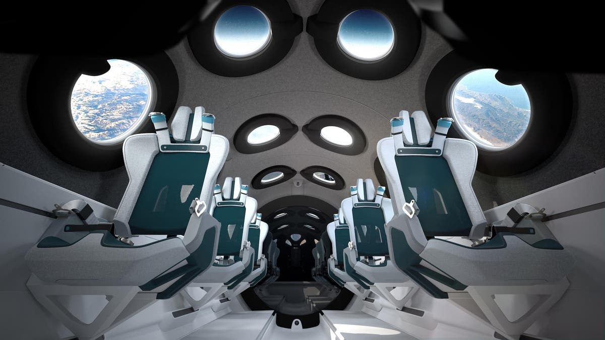 Virgin Galactic reveals inside of spaceship that will carry tourists off the Earth