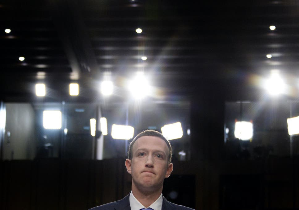 Facebook CEO Mark Zuckerberg testifies before a joint hearing of the US Senate Commerce, Science and Transportation Committee and Senate Judiciary Committee on Capitol Hill, April 10, 2018 in Washington, DC
