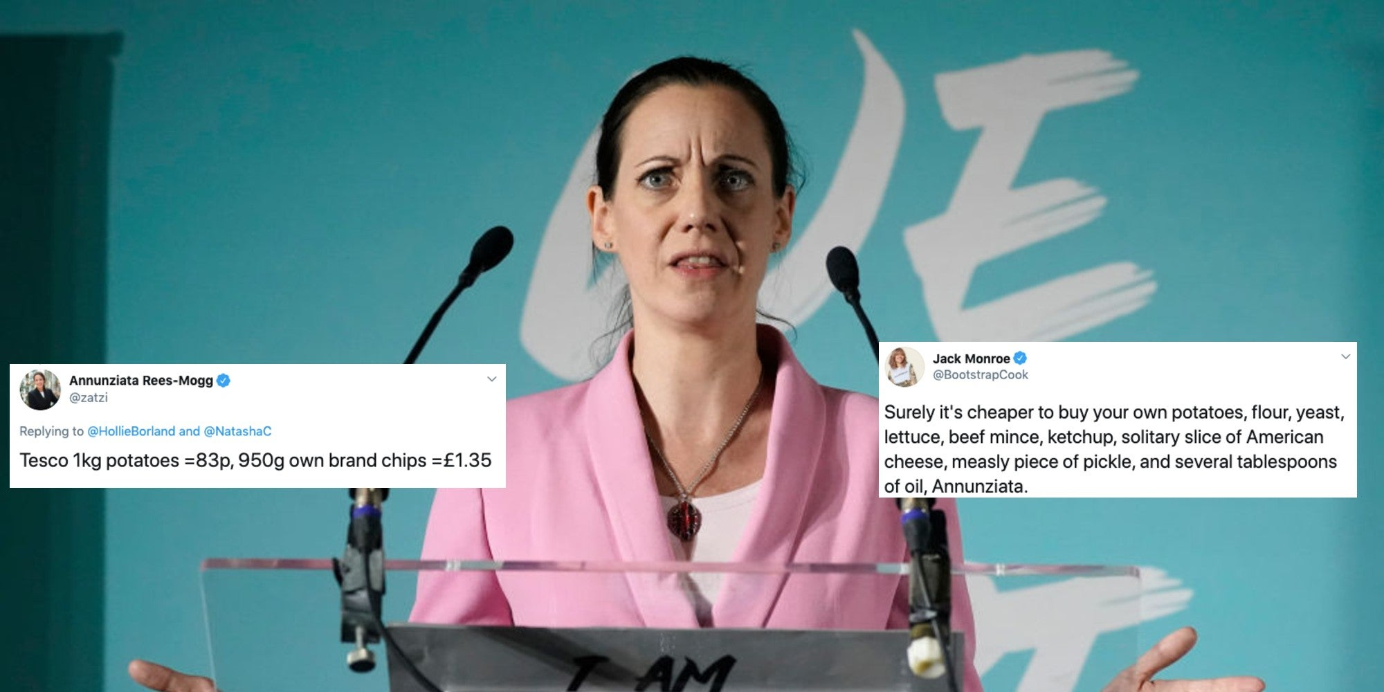 Annunziata Rees-Mogg actually just tried to explain food poverty and people have a lot of thoughts