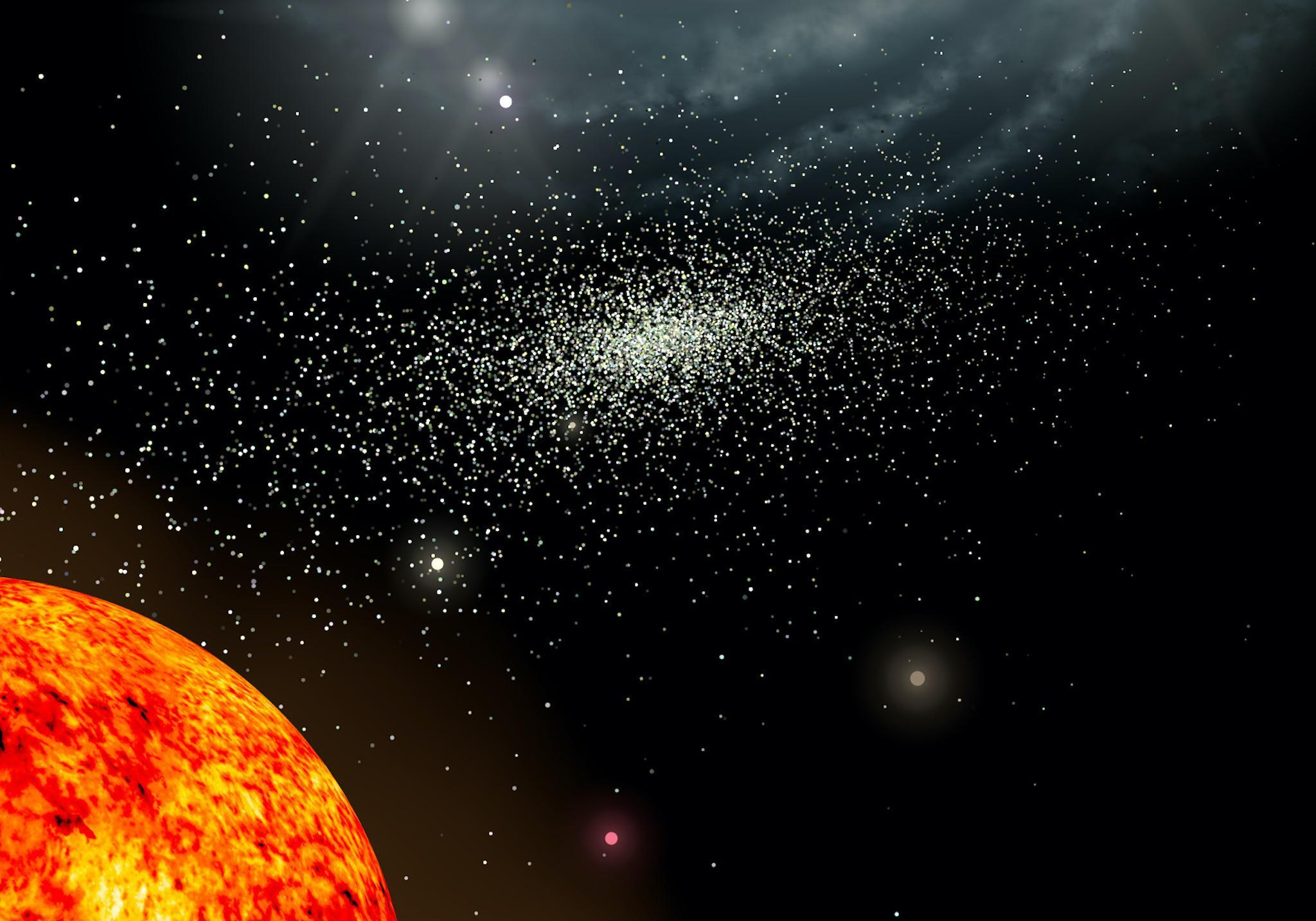 Remains Of Stars Ripped Apart By Our Galaxy Two Billion Years Ago Found By Astronomers The Independent The Independent