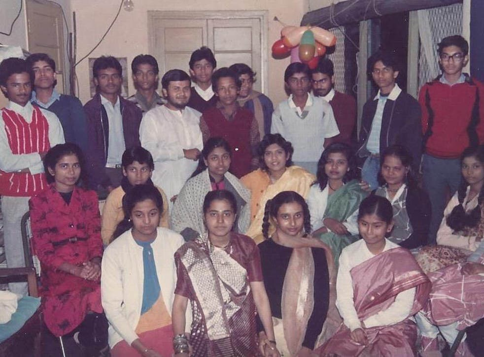 Romy (front, second from left) at her friend Reshmi's house. As children they would ask her dad's colleagues to bring back a list of food from Bihar when they visited