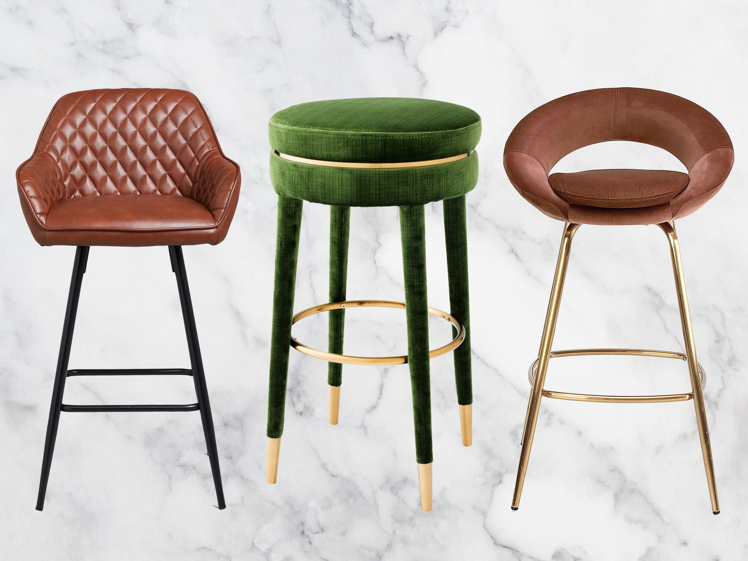 Stühle Round Folding Bar Stool Breakfast Padded High Chair Seat ...