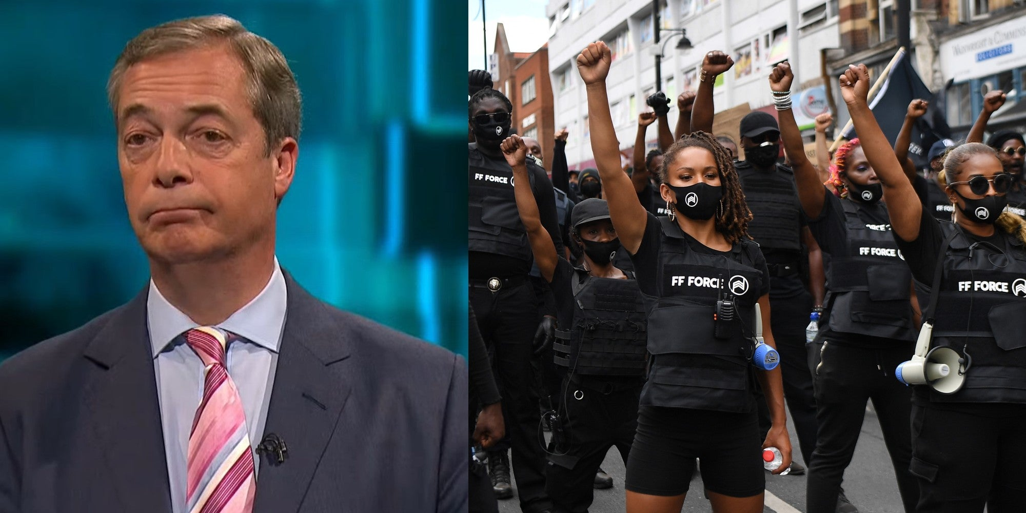 Nigel Farage condemned for calling an Afrikan Emancipation Day march 'terrifying'