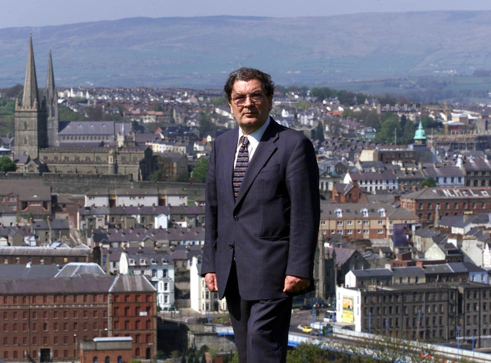 The town he loved so well: Hume was given the freedom of Derry in 2000