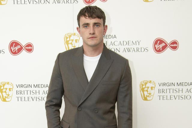 Paul Mescal at the Bafta TV Awards a in West London on 31 July 2020.