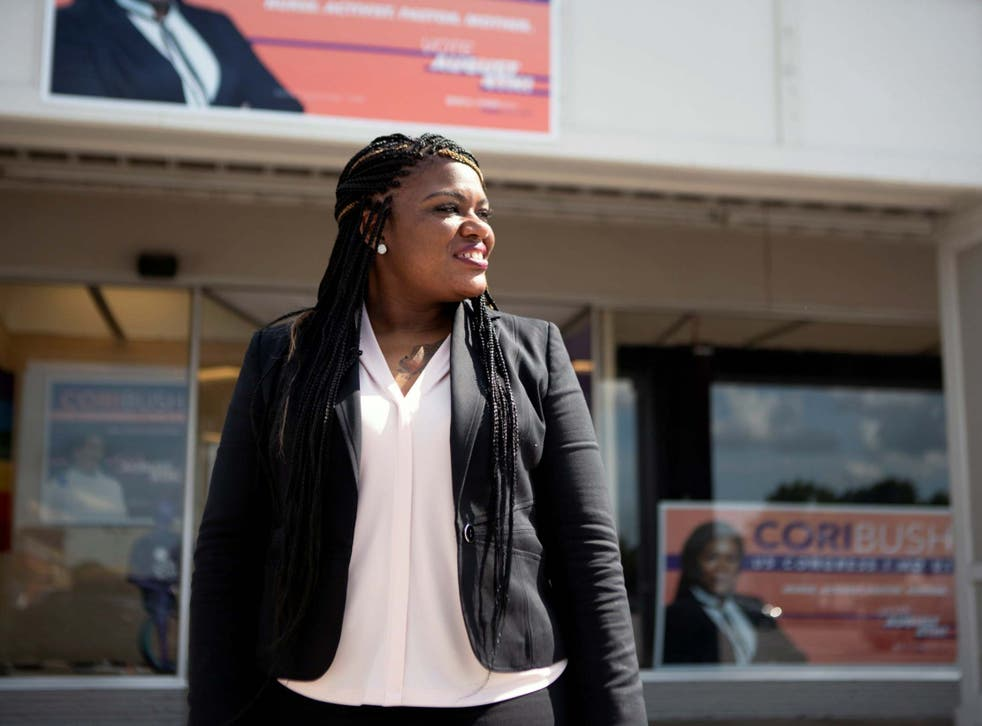 Black Lives Matter Cori Bush activist defeated veteran Democrat William Lacy Clay Jr