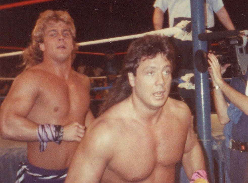 Marty Jannetty (right) during his time in The Rockers with Shawn Michaels