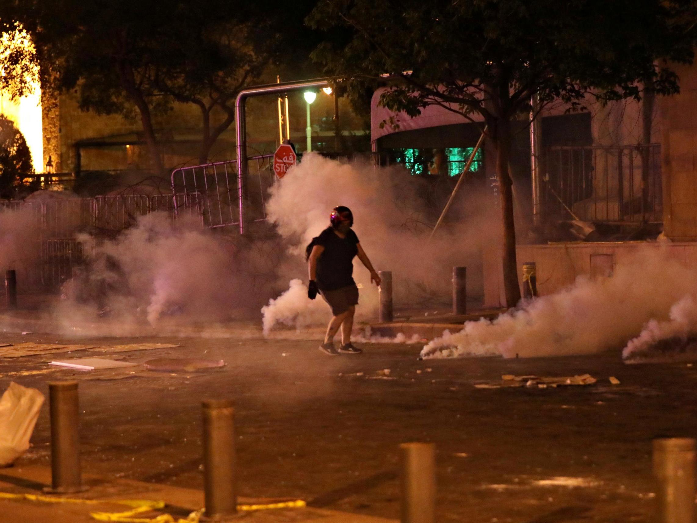 Beirut explosion: Protesters tear-gassed after trying to storm Lebanon's parliament as anger grows over port blast