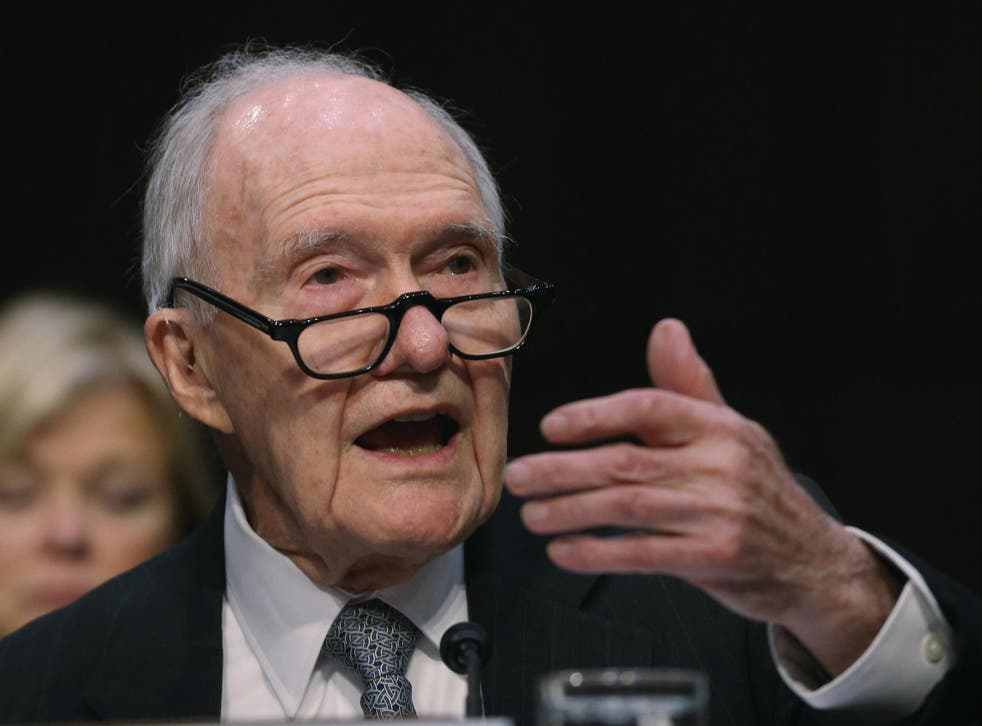 Former National Security Advisor Brent Scowcroft testifies during a Senate Armed Services Committee hearing on Capitol Hill, 21 January, 2015