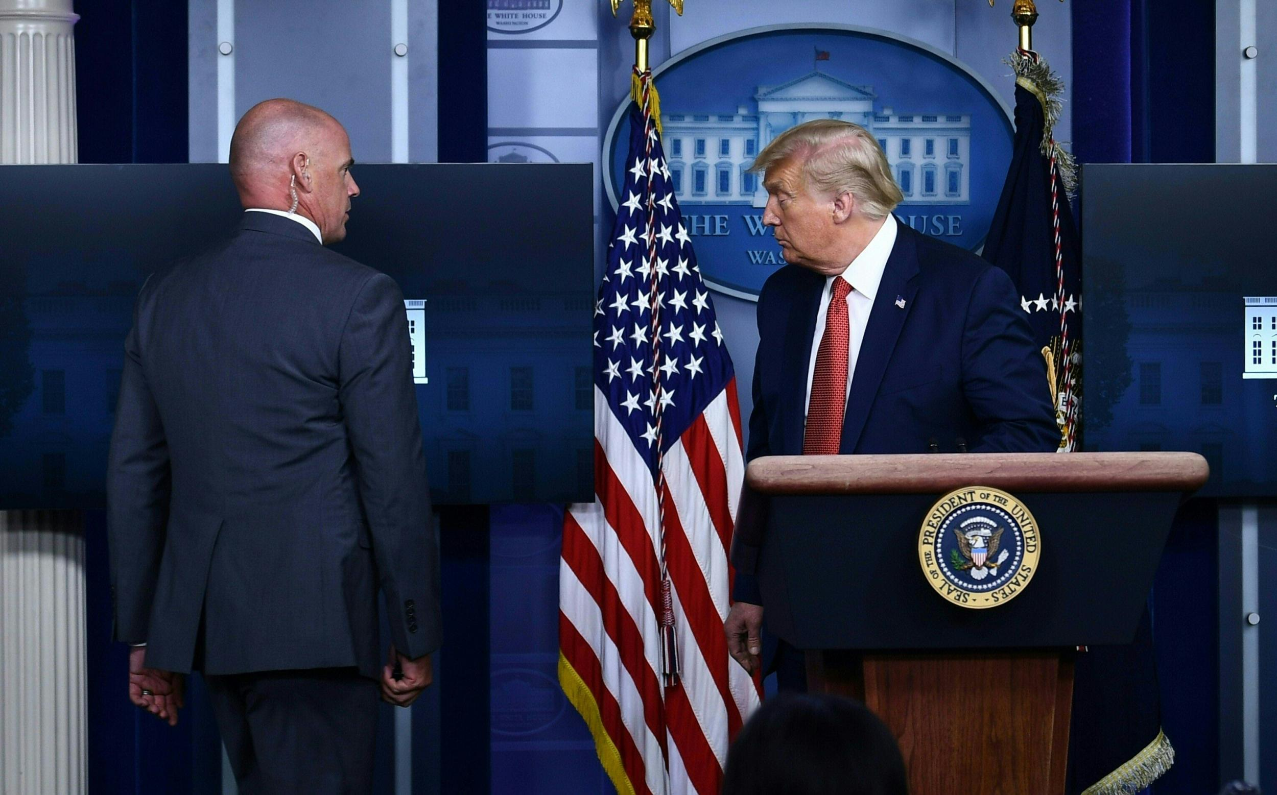 Trump scrambled to safety by secret service after White House shooting