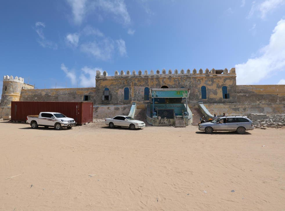 A general view shows the Mogadishu central cell in Mogadishu, Somalia